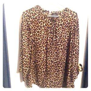 Justify Leopard Blouse 1X
